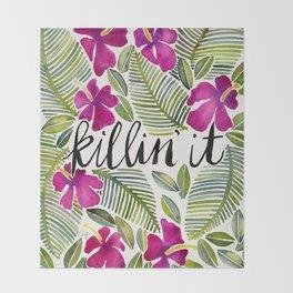Killin' It – Tropical Pink Throw Blanket