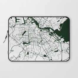 Amsterdam White on Green Street Map Laptop Sleeve