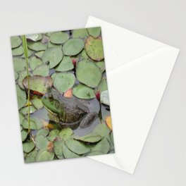Frog on lilly pads at Nisqually Stationery Cards