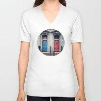 doors V-neck T-shirts featuring The Doors by unaciertamirada