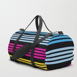 Nariaki - 80s Colored Retro Stripes Duffle Bag
