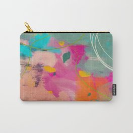 mixed abstract brush color study art 1 Carry-All Pouch