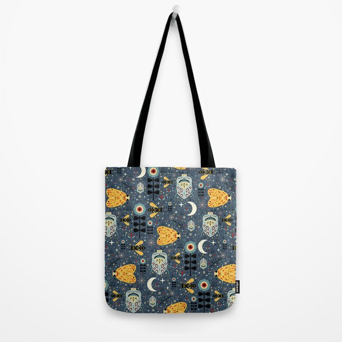 Midnight Bugs Tote Bag