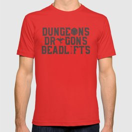 Dungeons & Dragons & Deadlifts T-shirt
