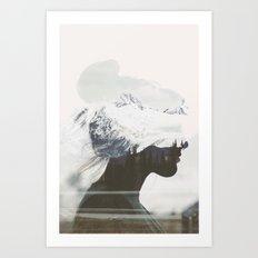 Head in the Mountains Art Print