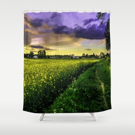 Rapeseed Sunset Shower Curtain