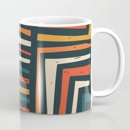 Square puzzle folk pattern Coffee Mug