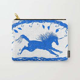 Blue Unicorn 02 Carry-All Pouch