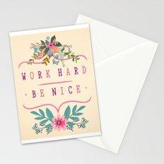 Work Hard Be Nice Stationery Cards