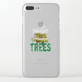 Splittin' Trees Funny Distressed Disc Golf Clear iPhone Case