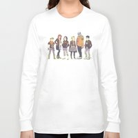 teen titans Long Sleeve T-shirts featuring Teen Titans Streetwear by L. Tharp