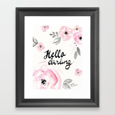 Rose - Hello Darling Framed Art Print