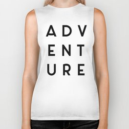 Adventure Minimalist Quote Biker Tank