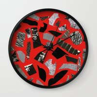 mineral Wall Clocks featuring Mineral by Hye Jin Chung
