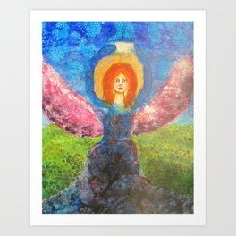 Angel Watching Over You Art Print