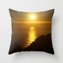 Sunset over the Canary islands Throw Pillow
