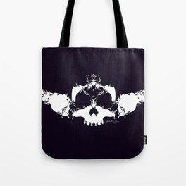 White Skull Tote Bag
