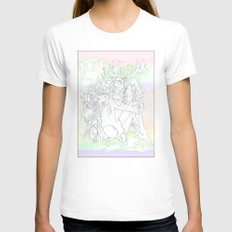 garden & antlers Womens Fitted Tee White MEDIUM