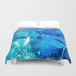 Crystal Blue Lights Duvet Cover