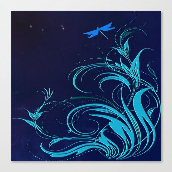 Good Night Dragonfly Canvas Print