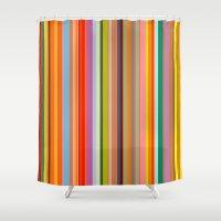 stripe Shower Curtains featuring stripe by Kurt Cyr