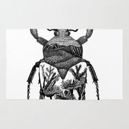 Beetle with Flowers inside Rug