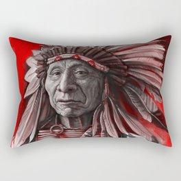 Red Cloud Rectangular Pillow