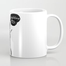 Goth Girl Red Wine Pls Coffee Mug