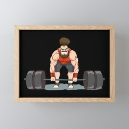 Weightlifting   Fitness Workout Framed Mini Art Print