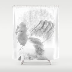 ZEN PLACES (right side) Shower Curtain
