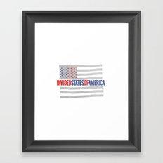 divided states of america Framed Art Print