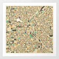 denver Art Prints featuring DENVER by Jazzberry Blue