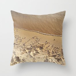 Merry Christmas Beach Throw Pillow