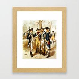 Infantry Of The Revolutionary War Framed Art Print