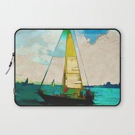 Night Sailing  -  Sailboats Laptop Sleeve
