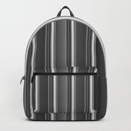 Aluminum silver stripe texture Backpack