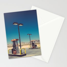 Gass pumps Stationery Cards