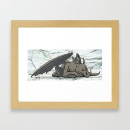 Grey Dragon Framed Art Print