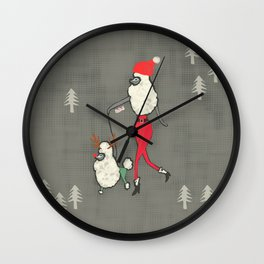 Merry Poodle Christmas! Wall Clock