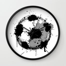 Grunge football ball Wall Clock