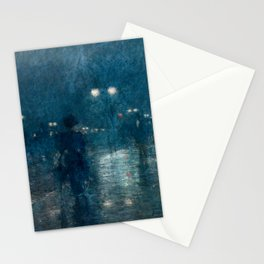 Fifth Avenue Nocturne by Childe Hassam Stationery Cards