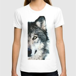 Wolf Art - Timber by Sharon Cummings T-shirt