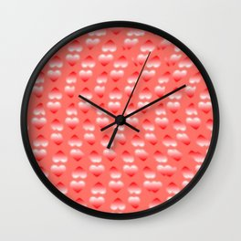Hearts pattern and stereogram - See the hidden 3D image! Wall Clock