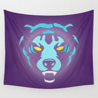 fierce Wall Tapestries featuring Fierce by MaNia Creations