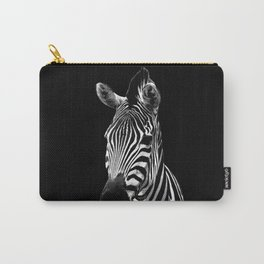 Zebra Black Carry-All Pouch