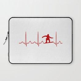 SNOWBOARDER'S HEARTBEAT Laptop Sleeve