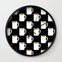 coffee mug pixel Wall Clock