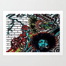 Musician wall Art Print