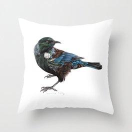 New Zealand Tui Throw Pillow