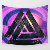 outer space Wall Tapestries featuring fun in outer space by Healinglove art products